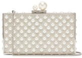 Sophia Webster Clara Pearl And Crystal-embellished Box Clutch - Womens - Silver Multi