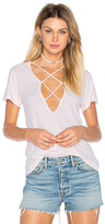 LnA Twice Crossed Tee in Blush. - size XS (also in )