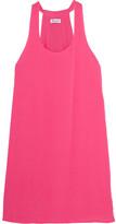 Splendid Crinkled-gauze Mini Dress - Bright pink