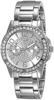 GUESS Women's Quartz Watch with Silver Dial Analogue Display and Silver Stainless Steel Bracelet W0705L1
