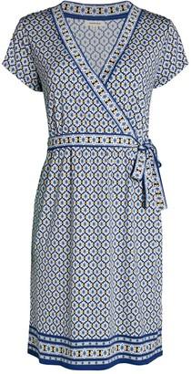 Max Studio Faux-Wrap Print Dress