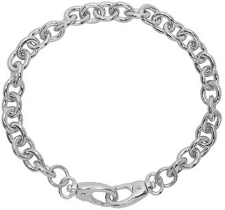 Laura Lombardi SSENSE Exclusive Silver Cable Collar