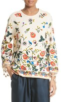 Alice + Olivia Women's Lenora Embroidered Bell Sleeve Tunic