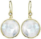 Irene Neuwirth Round Rose Cut Rainbow Moonstone Earrings - Yellow Gold
