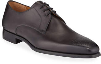 Magnanni Men's Samuel Perforated Leather Oxford Dress Shoes