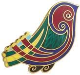 Tara Bird Brooch Plated & Multi Colored Irish Made