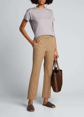 Brunello Cucinelli Cashmere-Silk Short-Sleeve Sweater