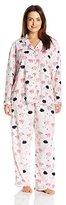Karen Neuburger Women's Plus-Size Minky Fleece Pajama Set
