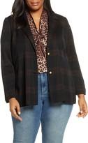 Ming Wang Check Knit Jacket
