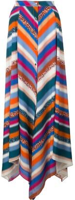 Altuzarra Aquarius striped skirt