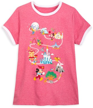 Disney Mickey Mouse and Friends Ringer T-Shirt for Women Walt World