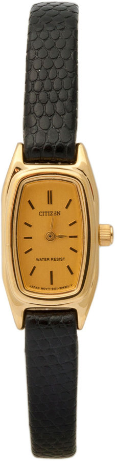 American Apparel Citizen Skinny Black Ladies' Leather Band Watch