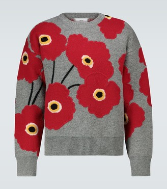 Ami Coquelicot knitted sweater