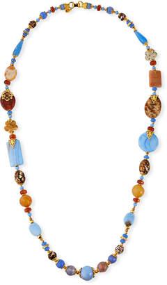 "Jose & Maria Barrera Long Mixed-Agate Necklace, 41""L"