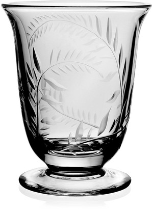 William Yeoward Jasmine Etched Glass Flower Vase - 6""