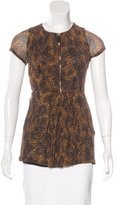 Burberry Short Sleeve Leopard Print Top