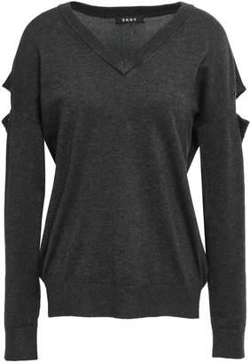 DKNY Cutout Stretch-knit Sweater