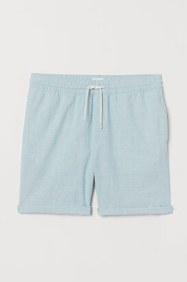 H&M Knee-length Cotton Shorts - Turquoise