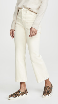 Frame Carpenter Color Crop Flare Jeans