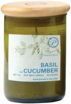 Paddywax Eco Green Soy Wax Jar Candle - Basil And Cucumber - 8 oz