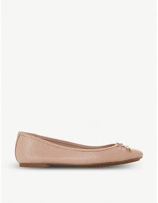 Dune Harpar leather ballet flats