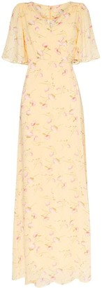 By Ti Mo Poppies floral-print maxi dress