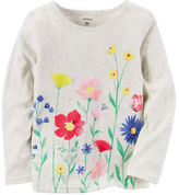 Carter's Long-Sleeve Floral Graphic Tee