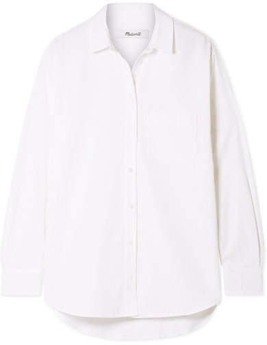 Madewell Oversized Cotton And Modal-blend Shirt - White