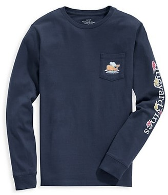 Vineyard Vines Little Boy's & Boy's Thanksgiving Whale Long-Sleeve Pocket T-Shirt