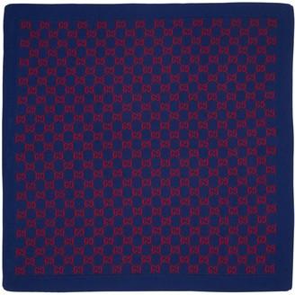 Gucci Gg Logo Intarsia Wool Knit Blanket