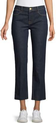 Frame Le High Waist Straight Raw Edge Jeans