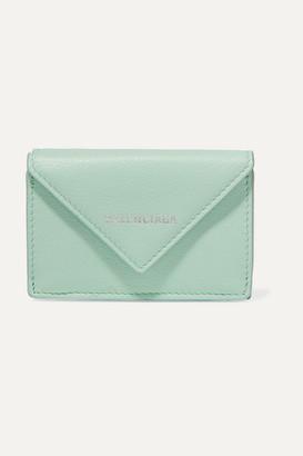 Balenciaga Papier Mini Printed Textured-leather Wallet - Green
