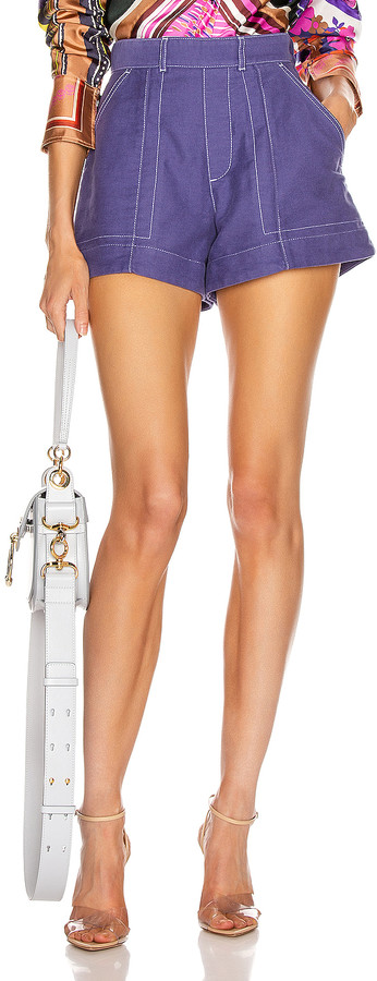 Chloé Tailored Short in Lilac Navy | FWRD