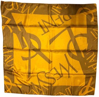Saint Laurent Gold Silk Scarves