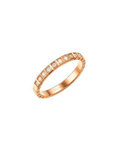 Chopard Ice Cube Mini Diamond Ring in 18K Rose Gold, Size 52
