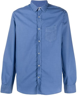 Officine Generale Patch-Pocket Long Sleeved Shirt