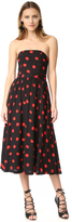 Alice + Olivia Belva Strapless Midi Dress