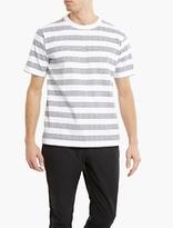 White Mountaineering White Striped Logo T-shirt