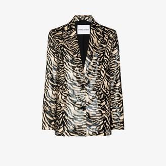 Stand Studio Catherine zebra print blazer