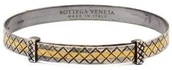 Bottega Veneta Intrecciato Engraved Sterling Silver Bracelet - Mens - Silver Multi