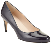 John Lewis Arna Round Toe Court Shoes, Navy Patent