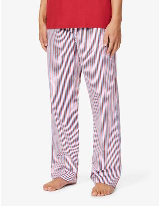 Derek Rose Ledbury striped cotton-poplin pyjama bottoms