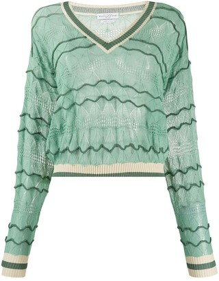 Ballantyne V-Neck Fine Knit Jumper