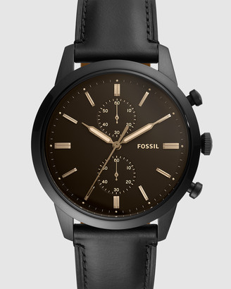 Fossil Townsman Black Chronograph Watch