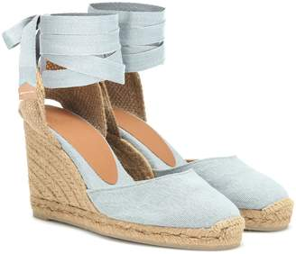 Castaã±Er Carina canvas wedge espadrilles