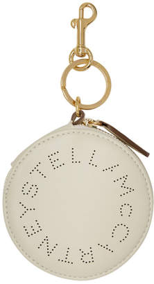 Stella McCartney White Eco Soft Round Purse Keychain
