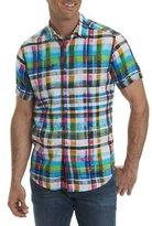 Robert Graham Hula Plaid Linen Sport Shirt