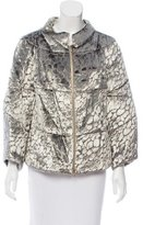 Rachel Roy Velour Zip-Up Jacket w/ Tags