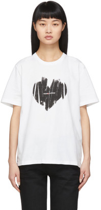 Saint Laurent White Heart T-Shirt