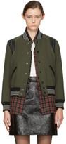 Saint Laurent Khaki Wool Teddy Bomber Jacket